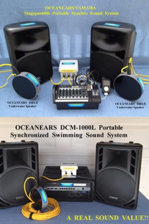 OCEANEARS Synchronised Swimming Portable Sound System